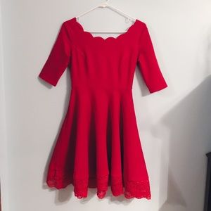 Lulu's tip the scallops red dress